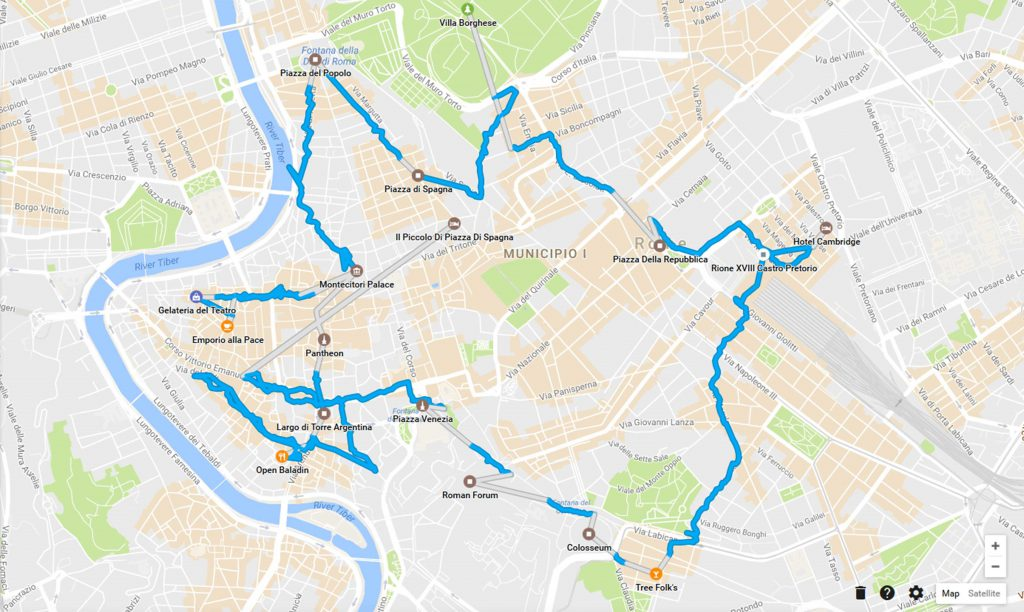 Rome route map